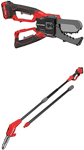 CRAFTSMAN CMCCSL621D1 V20 Cordless Lopper with CMCCSP20M1 20V MAX Pole Chainsaw