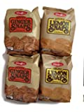 Stauffer's 4-pack Snaps Cookies Variety: Ginger Snaps & Lemon Snaps, 14 Oz. Bags [2 of Each]
