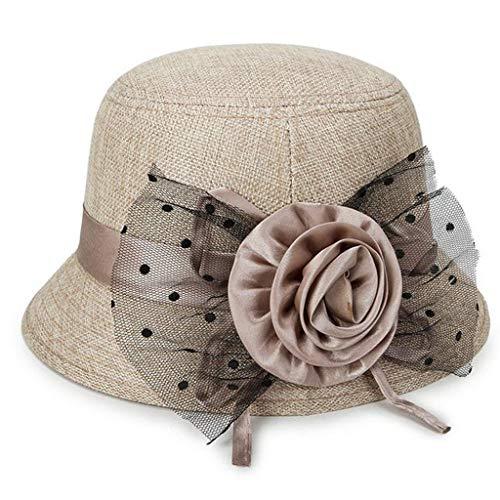 Women Spring and Summer Linen Sunshade Hat Ladies