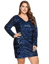 Women's Plus Size Sequin Cocktail Dress