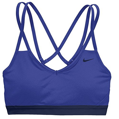 Nike Womens Pro Indy Strappy Sports Bra (Paramount Blue, Large)
