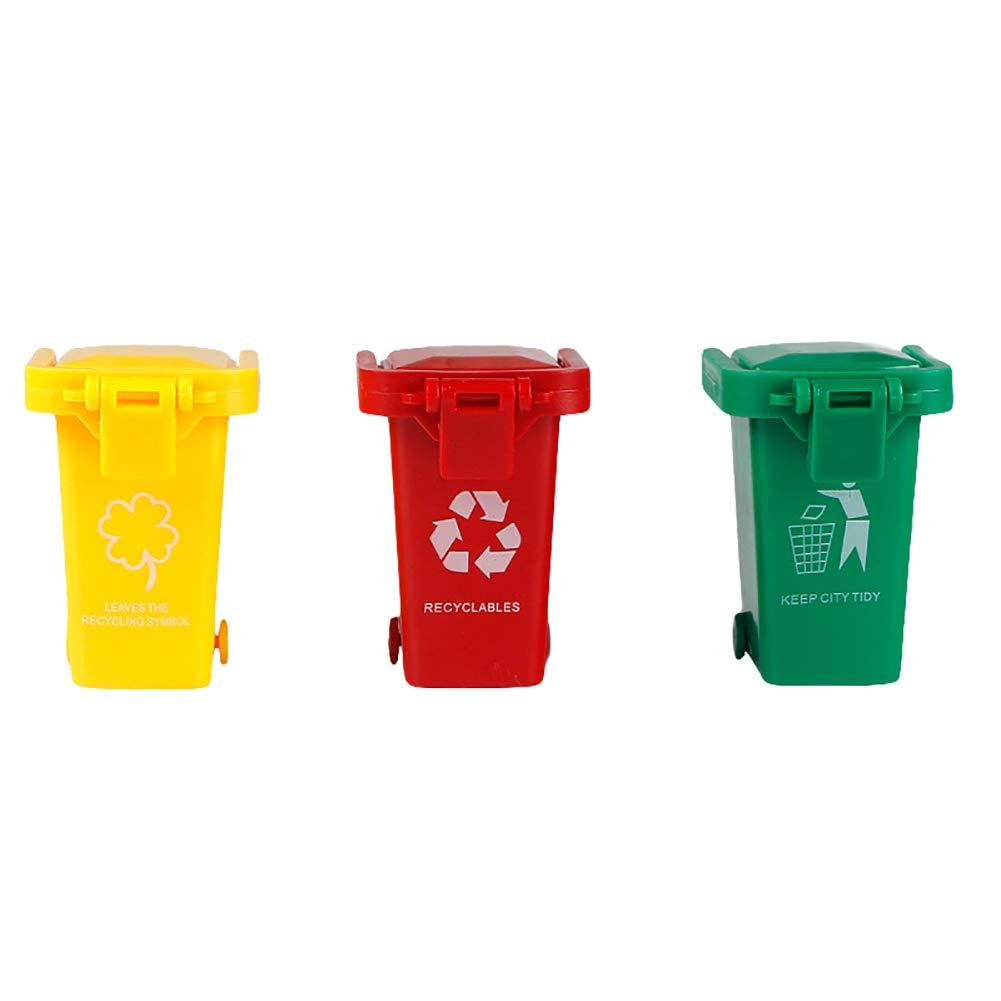 9302sonoaud 3pcs Set Couleurs Vives Enfants Poussent Jouets en Plastique v/éhicules poubelles poubelles Camion