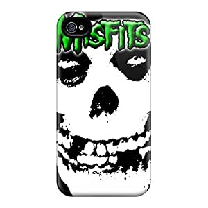 Iphone 4/4s JPf5203OkCV Unique Design Nice Green Misfits Pictures Best Hard Cell-phone Case -JasonPelletier