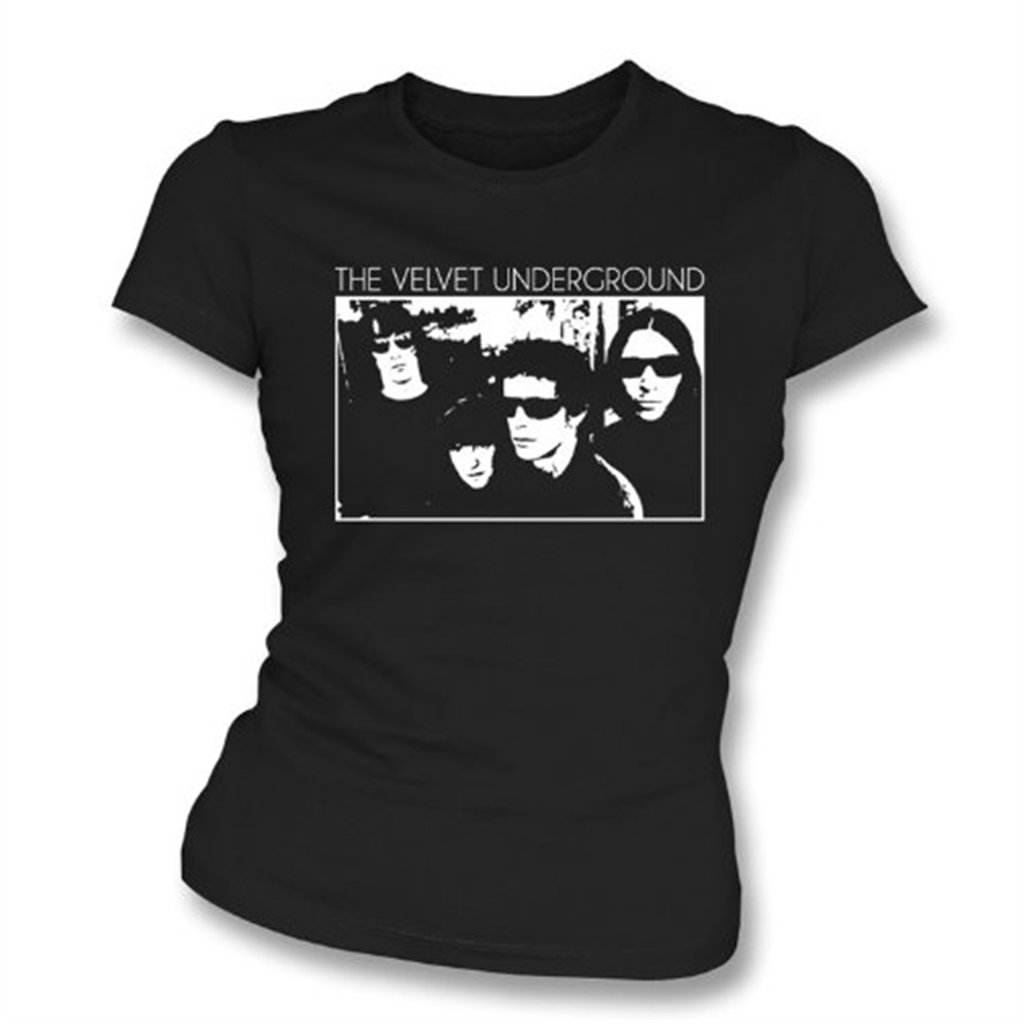 Velvet Underground Band Photo Girl's Slim-Fit T-Shirt, Color Black