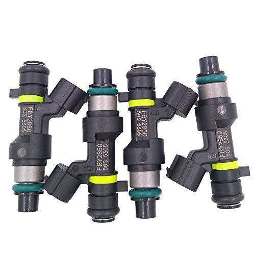 JESBEN 4pcs Set Fuel Injector 18 Holes Fit For Sentra 2007-2012 NV200 2013-2017 2.0L MR20DE Cube 2009-2014 Versa 1.8L 2007-2012 MR18DE FBY2850 16600-EN200 ()