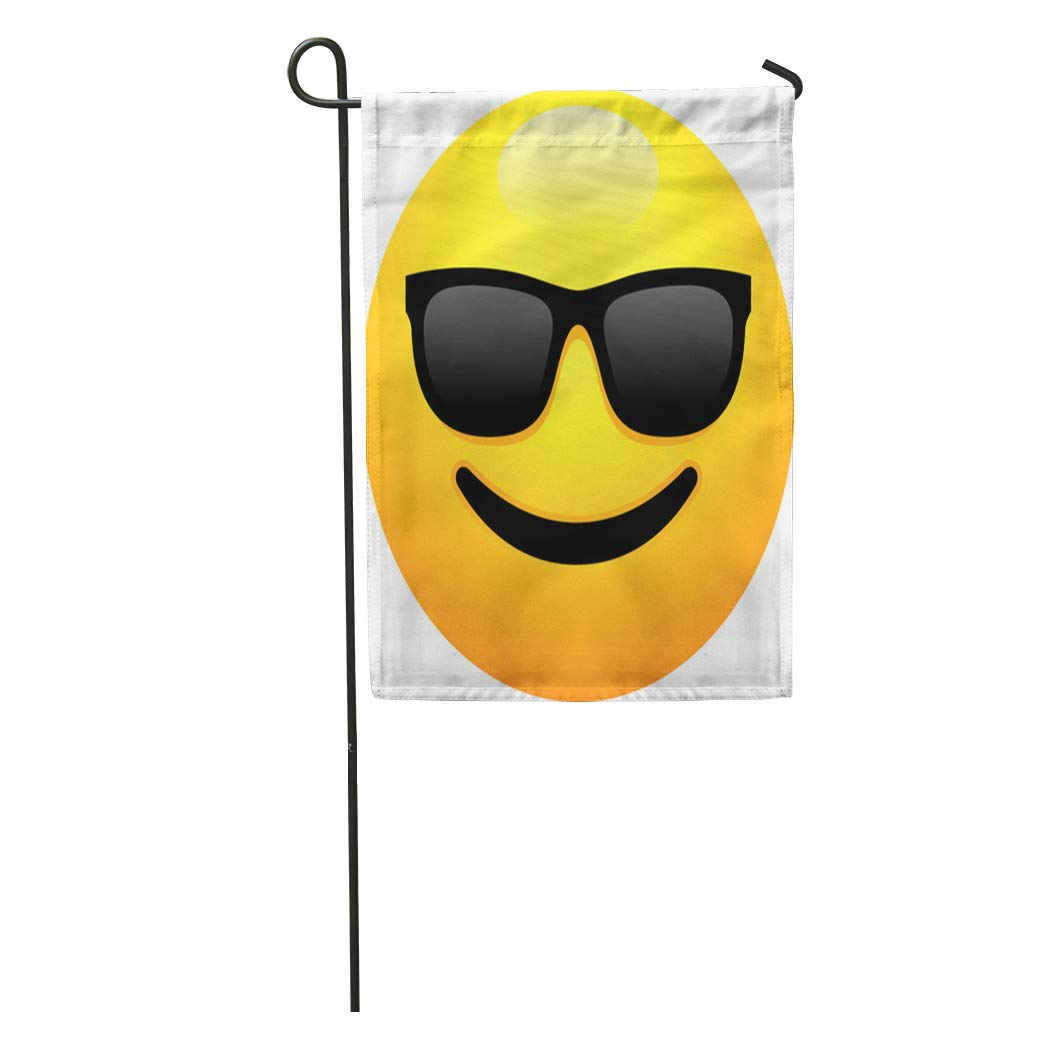 ccb9be587c9 Amazon.com   Semtomn Garden Flag Clip Smiley Face Dark Sunglasses Emoji  Color Emotion Grinning Happy Home Yard House Decor Barnner Outdoor Stand  28x40 ...