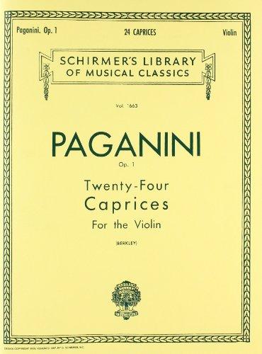 24 Caprices, Op. 1: Violin Solo (Schirmer's Library of Musical - Violin Schirmer G Strings