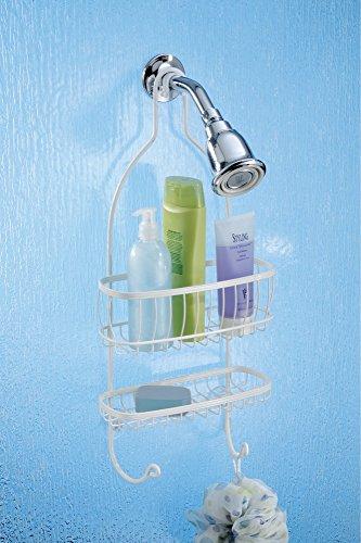 mDesign Bathroom Shower for Shampoo, Soap, Razor -