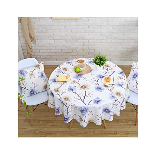 Wings Italia (wing Proud Rose Waterproof Printed Tablecloth Round Table Cover Tea Table Cloth Rural Rectangular Cover Cloth Home Decoration,08,120x180cm)