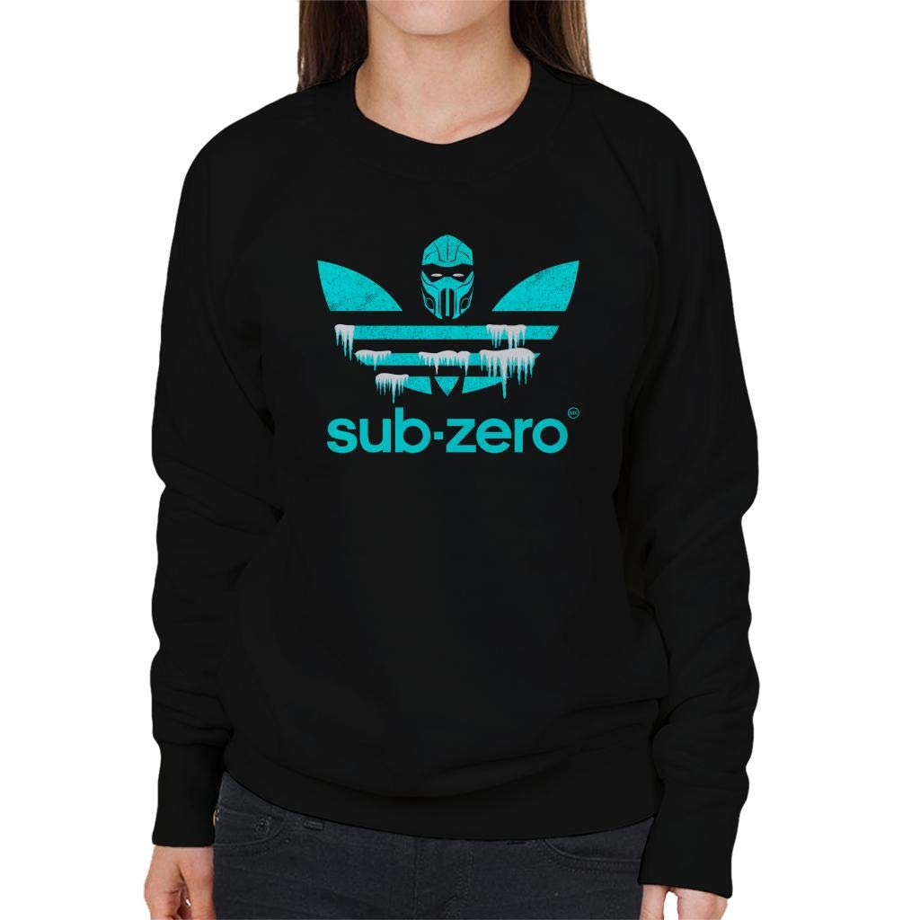 Sub Zero Sports Logo Mortal Kombat Womens Sweatshirt