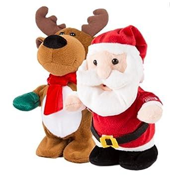 Amazon.de: Weihnachten animierte Charakter Santa Rudolph Rentier ...