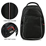 Forfar Travel Laptop Backpack Waterproof Outdoor Hiking Sports Rucksacks Anti-theft Anti-cut College School Backpack with Security Lock for Men Women Student Slim Travel Safe Bags, Black Review