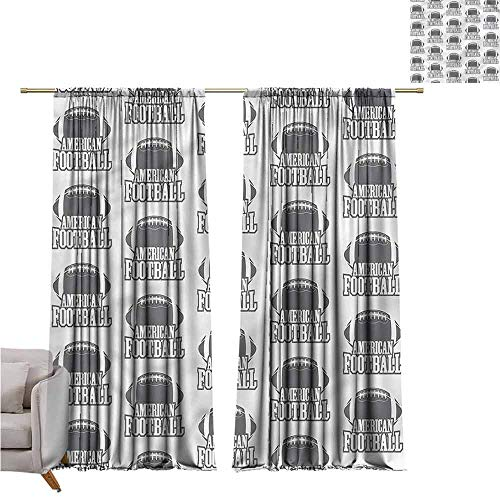 (zojihouse Football Bedroom and Living Room Curtains 55