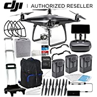 DJI Phantom 4 PRO+ PLUS Obsidian Edition Drone Quadcopter Includes Display (Black) Ultimate Travel Backpack Bundle