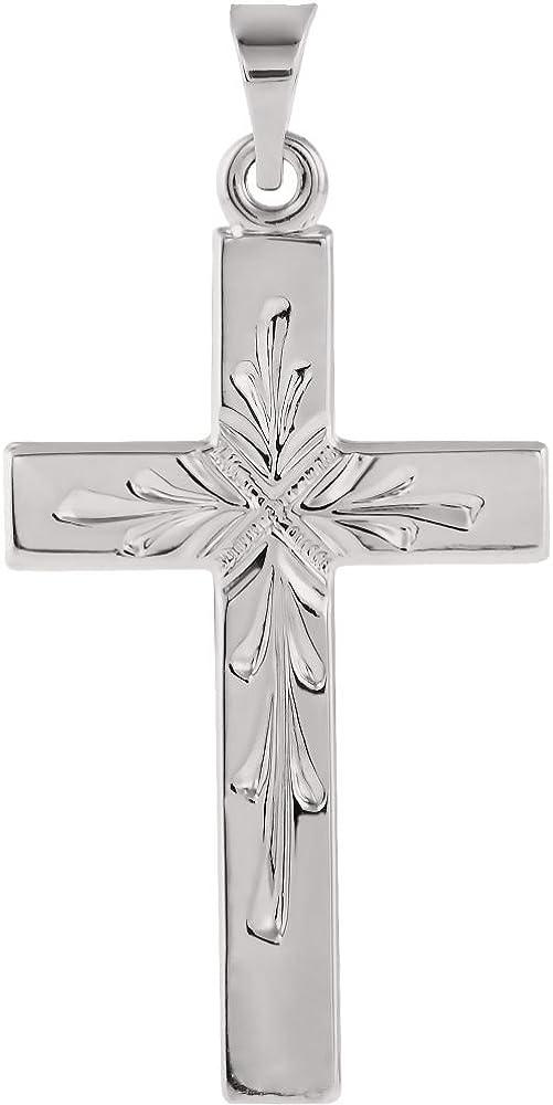 Jewels By Lux 14Kw 24.00X15.00 mm P Cross Pendant