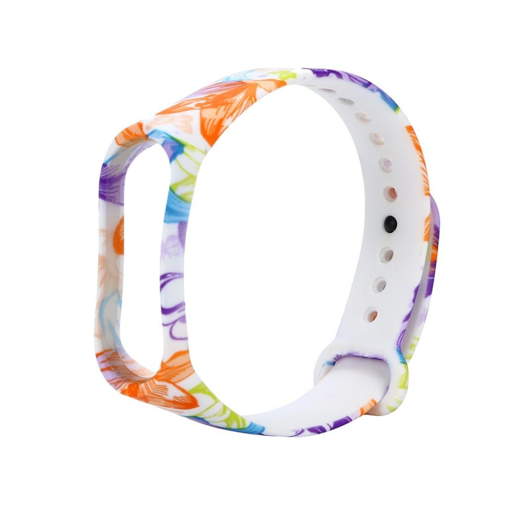 HighlifeS Replacement Silicone Wristband Band Strap For Xiaomi Mi Band 3 Bracelet (C)