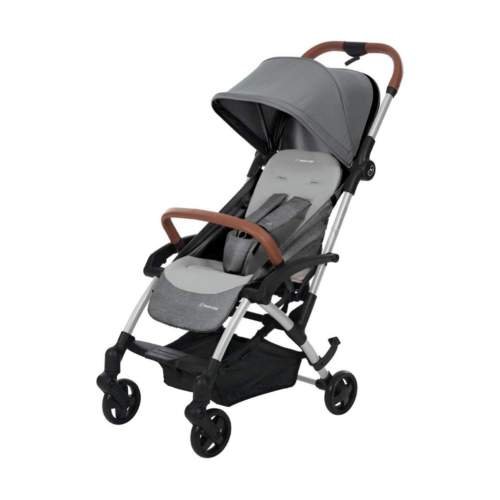 Maxi Cosi Laika Baby Pushchair, Ultra Compact and Lightweight Stroller from Birth, Easy Fold, 0 Months-3.5 Years, 0-15 kg, Nomad Black