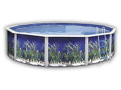 TOI - Piscina desmontable redonda decorada modelo océano - 550x120 ...