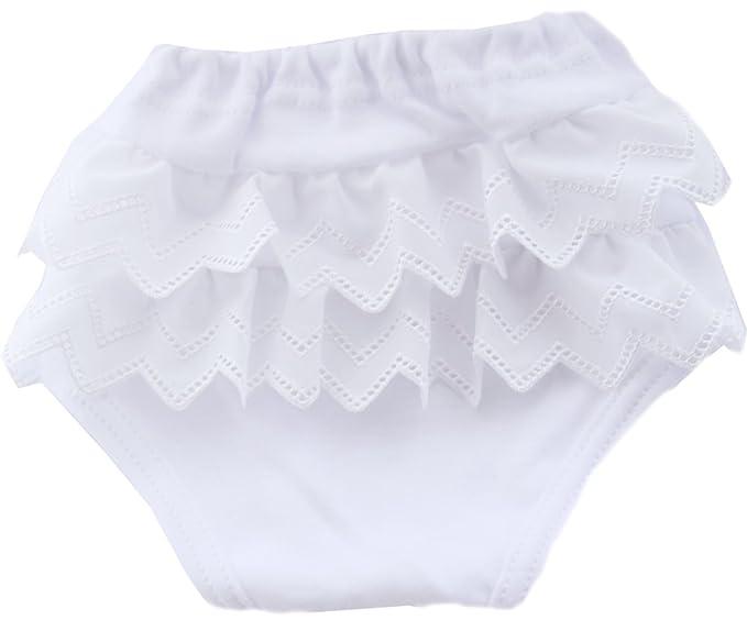 Slips Kinder Baby Unterwäsche Unterhose Höschen Mit Rüschen Weiß 16