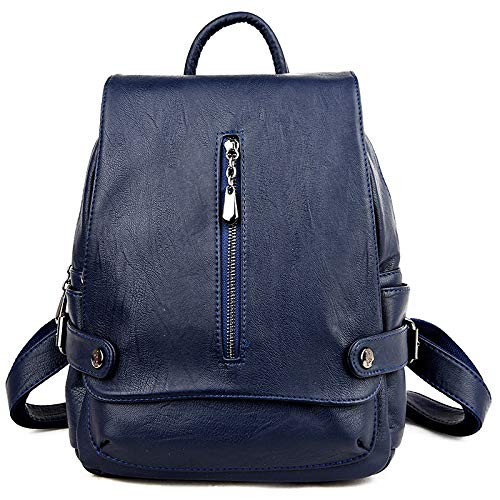 Blu Classico Zaino Zhi tracolla Theft Pu a Leather Scuola Borsa Light Anti Elegante Donna Wu wa61AFBqxx