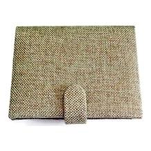Hand Woven Fabric Travel Passport Book Cover / Wallet / Case / Holder - Light Green