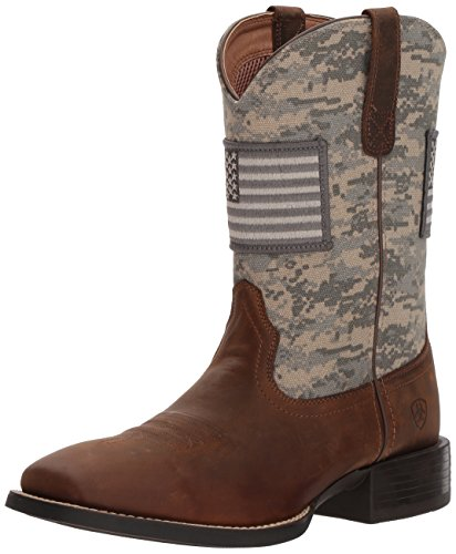 Ariat Men's Sport Patriot Western Boot, Distressed Brown/sage camo Print, 12 D US