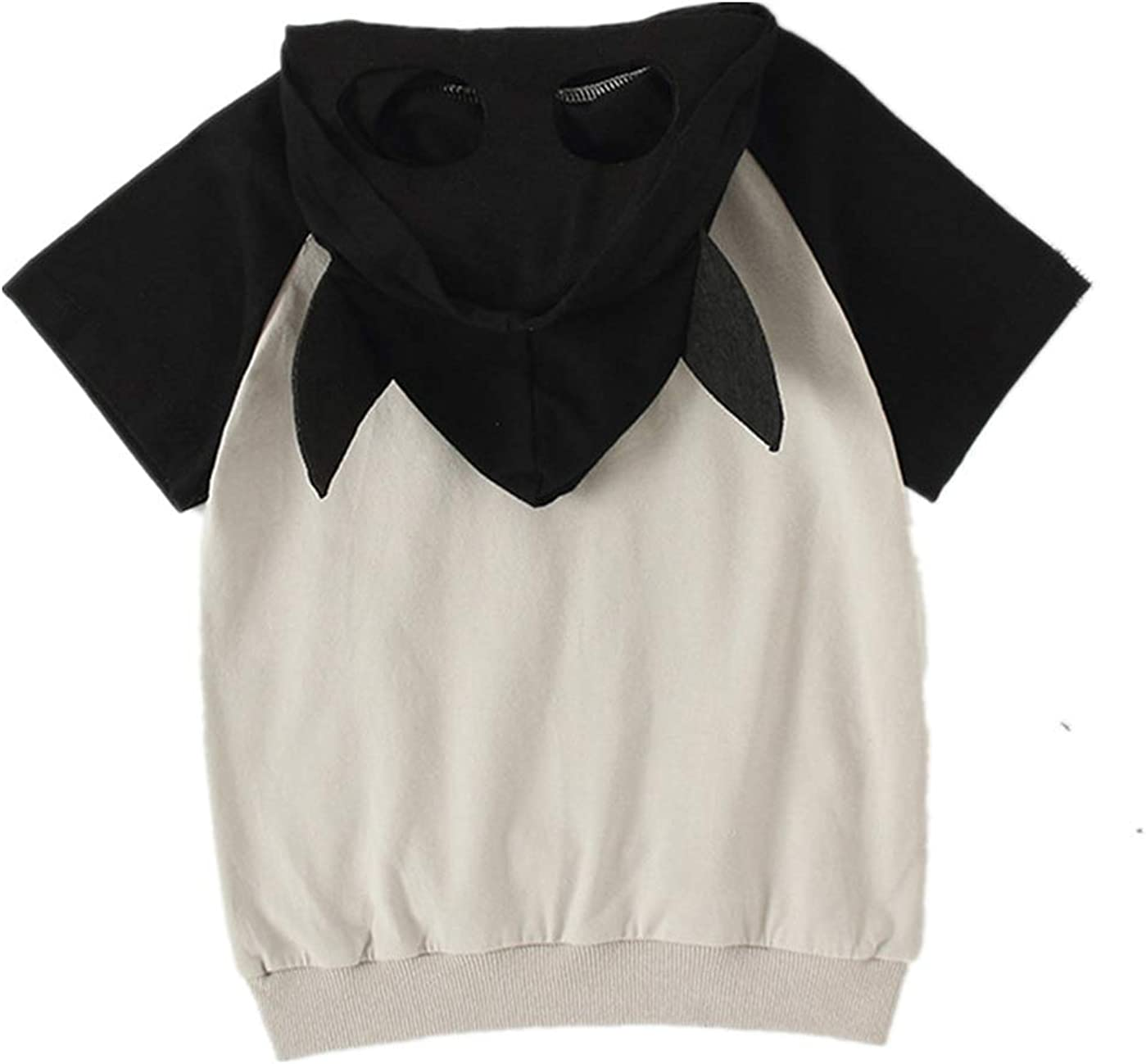 Boys Girls Summer Short Sleeve Childrens Role Playing Hooded T-Shirt