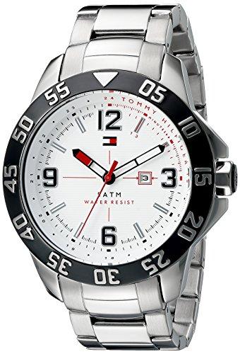 Tommy Hilfiger Men's 1790988 Cole Analog Display Quartz Silver Watch