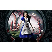 The Most Exciting Game Poster Alice Madness Returns In Wonderland Games Canvas Poster Print 24X36