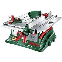 Bosch PTS 10 - Sierra circular de mesa, profundidad de corte 75 mm, 5000 rpm, 1400 W, color verde y gris