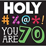 Creative Converting 16 Count Holy Bleep 70th Birthday Lunch Napkins