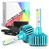 VIPMOTOZ H8 H9 H11 Hybrid Color-Changing RGB & Headlight Foglamp LED Conversion Kit - [2nd Generation] - IOS & Android Apps Remote
