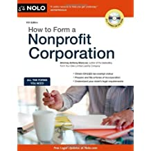 How to Form a Nonprofit Corporation (How to Form a Nonprofit Corporation (W/Disk)) 10th edition by Mancuso Attorney, Anthony (2011) Paperback