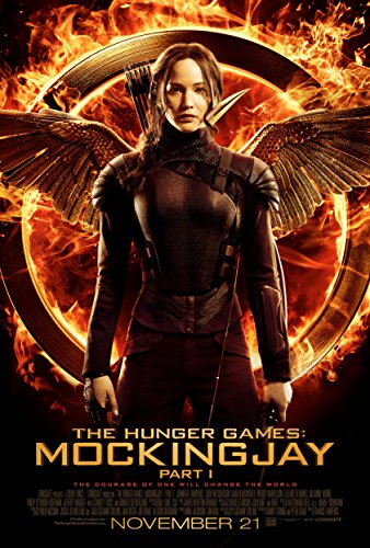 """The Hunger Games: MockingJay Part 1 -Movie Poster, 24 x 36"""" Inches - Glossy Photo Paper (Thick 8 Mil) - Jennifer Lawrence, Josh Hutcherson, Liam Hemsworth"""