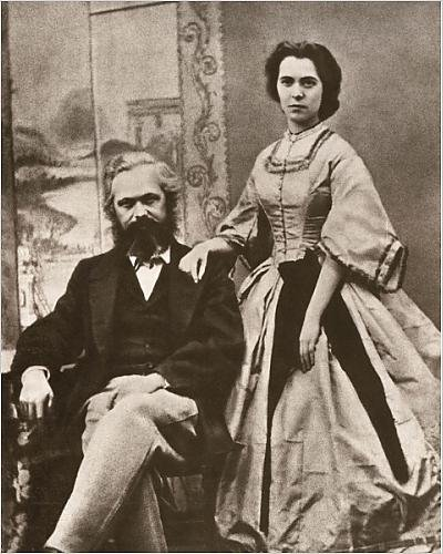 Karl Marx Costume (Photographic Print of Karl Marx and his wife, Jenny (nee von Westphalen))