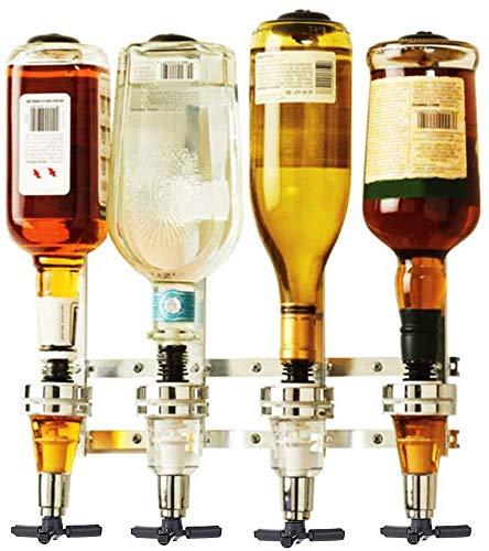 Bar Butler 4 Bottle Liquor Dispenser 4 Bottle Wine Dispenser Wall Mount bar butler 4 shot Dispenser Beverage Dispenser…
