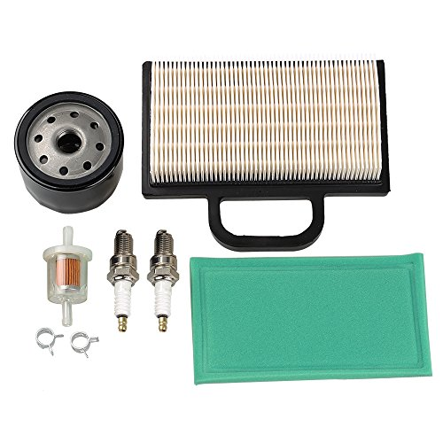 HIPA 698754 273638 Air Filter 691035 Fuel Filter 696854 Oil Filter Spark Plug for Briggs & Stratton Intek Extended Life Series V-Twin 18-26 HP Lawn Mower