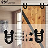 WINSOON Modern Single Interior Sliding Doors Hardware Pocket Barn Door Kit Horseshoe Style (8FT /96' 1 Door Track Kit)