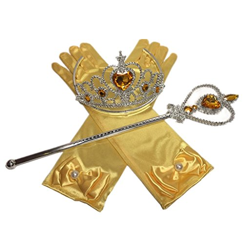 Princess Cosplay Dress up Accessorries Grils Costume Crown, Wand, Gloves valued -