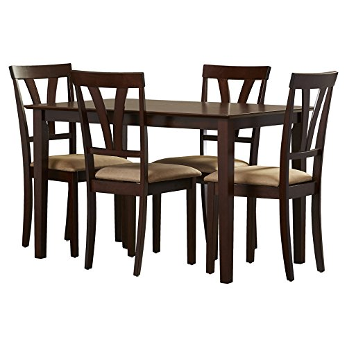 Five Piece Dining Set of 1 Table and 4 Chairs Rectangular Table Crafted of Wood in Traditional Style Plus FREE GIFT