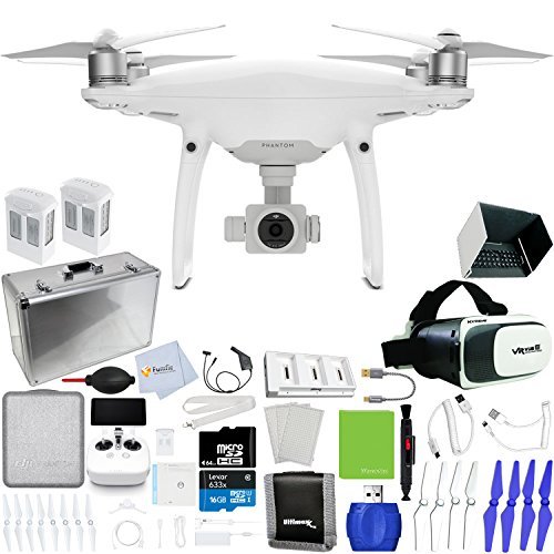 DJI-Phantom-4-Pro-Quadcopter-Xtreme-VR-Vue-II-For-iPhoneAndroid-Screen-Size-35-6-2-Intelligent-Flight-Battery-5350mAh-Hard-Shell-Aluminum-Case-Multi-Charger-Hub-More