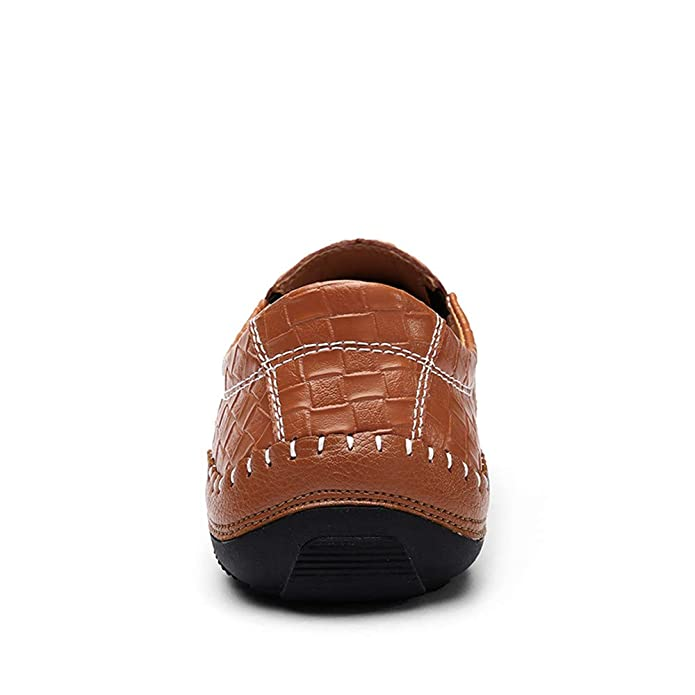 Bon Soir Men Casual Driving Shoes Leather Loafers Shoes Loafers Luxury Flats Shoes