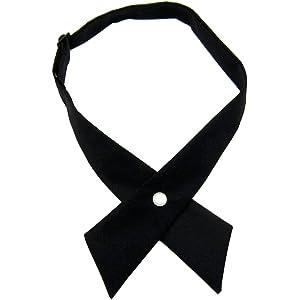 Adjustable Criss-Cross Bowtie Neck Tie School Uniform Unisex Cross Tie 5 Colors