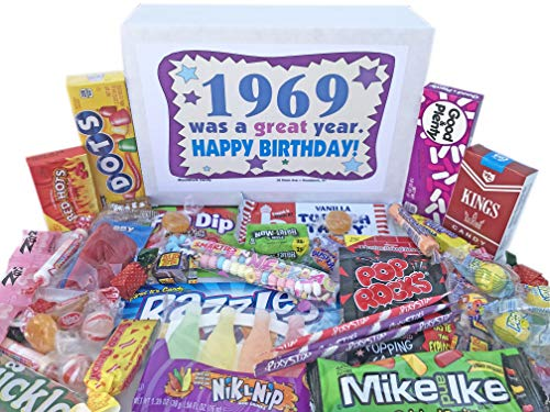 Woodstock Candy ~ 1969 50th Birthday Gift Box Vintage Candy Assortment from Childhood for 50 Year Old Man or Woman Born 1969 Jr