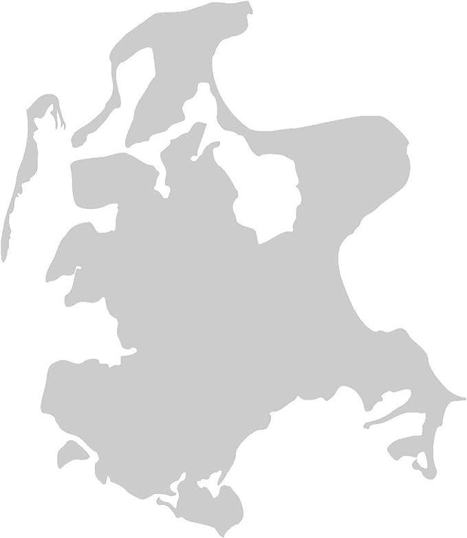 Samunshi Rügen Aufkleber Insel In 9 Größen Und 25 Farben 6 6x8cm Silbermetalleffekt Auto