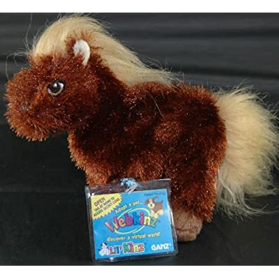 Webkinz Lil' Kinz Brown Horse Plush Pet Online Toy: Toys & Games
