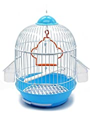 BPS Gabbia Bird Cage Metal con Alimentatore Bevitore Swing Hopper Bucket Diversi Modelli Colore Casuale Ship (Model1270: 23 * 23 * 36,5 cm) BPS-1270