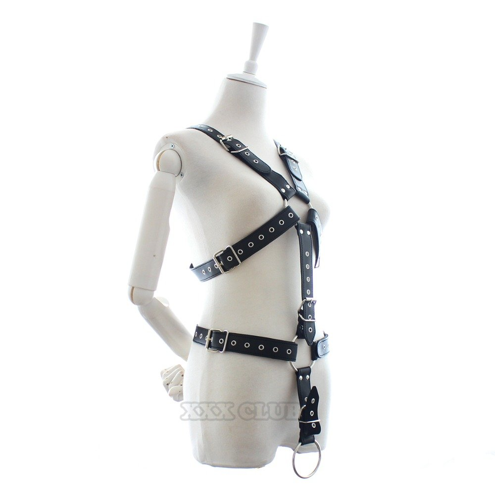 Adult Games Strict Male Body Harness Restraints Bondage Belt with Penis Ring,Sex Toys for Men Chastity Device B by UEKJCNS (Image #5)