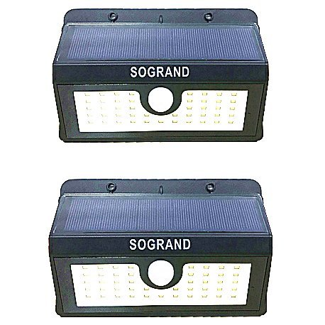 Sogrand Solar Motion Lights Outdoor Led Security Sensor Ligh