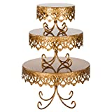 #5: 3-Piece Royal Crown Cake Stand Set (Gold)